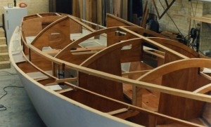 Framing for the cabin and superstructure takes shape. Klaus pointed out that he maximised the painting of future inaccessible areas during this phase of the project.