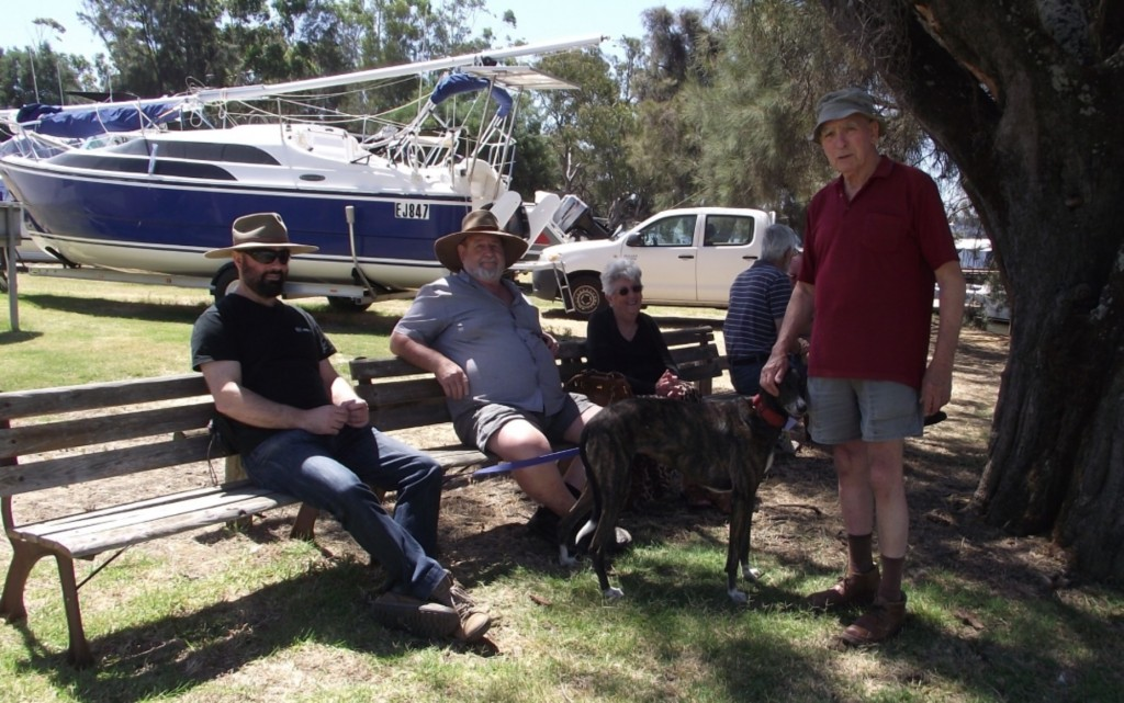 The 'crew' at relaxing at Maylands