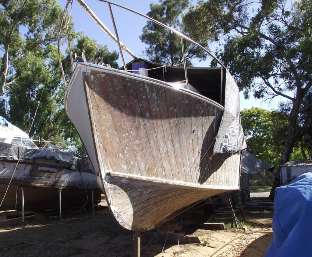 "Rob Bingham's major project 38 ft Halvorsen ""Karrawa"" nearing completion"