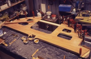 Each bulkhead was fully made up in the workshop before any assembly proceeded